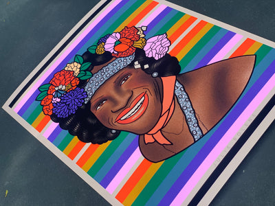 MARSHA P JOHNSON 8X10 PRINT: PROCEEDS GO TO MARSHA P JOHNSON INSTITUTE