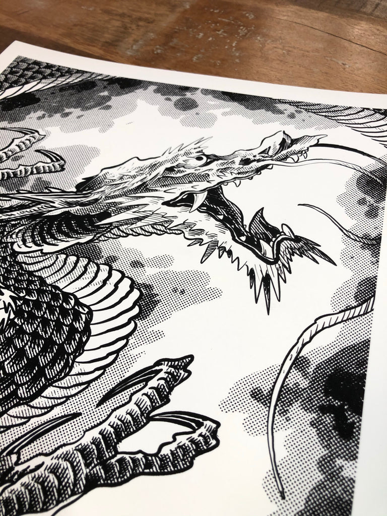 MANGA DRAGON prints by Levi Polzin