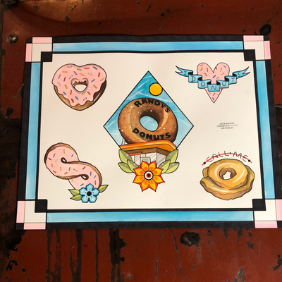 DONUTS original painting
