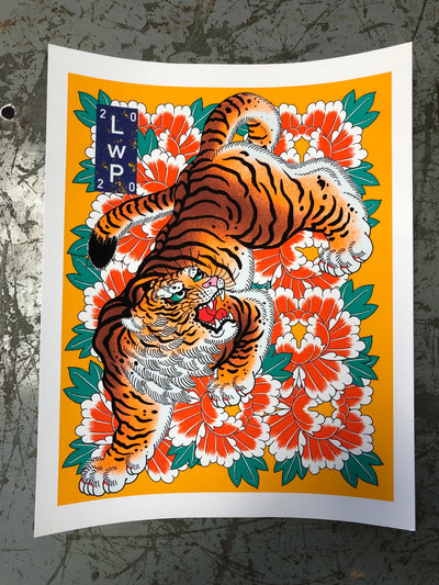 YELLOW TIGER prints