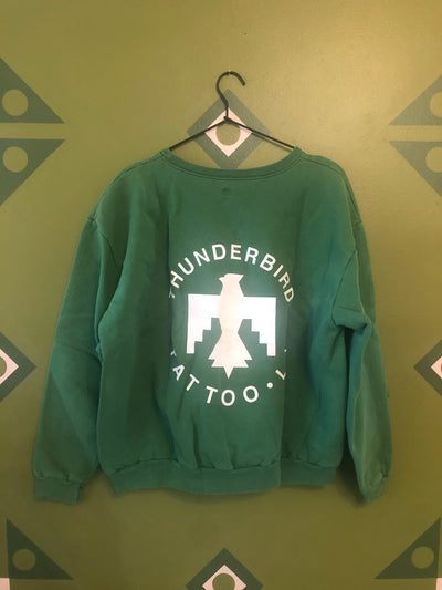 Thunderbird tattoo women's xl vintage sweatshirt green