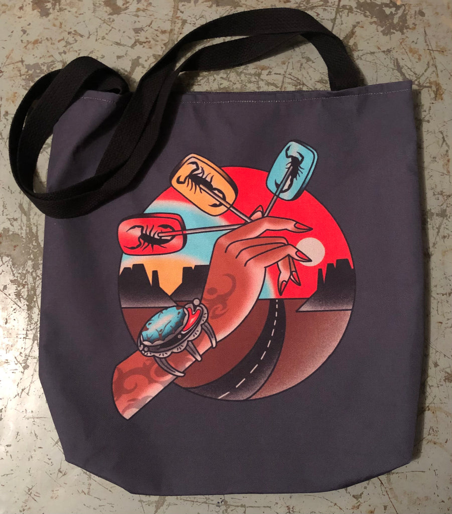 SCORPION ROAD TRIP tote bag