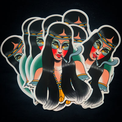420 BABE STICKER