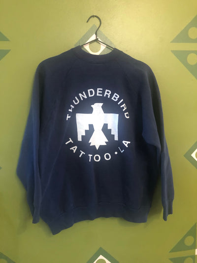 Thunderbird tattoo vintage ladies Large sweatshirt navy