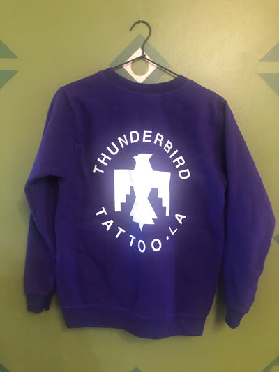 Thunderbird tattoo vintage sweatshirt ladies small purple