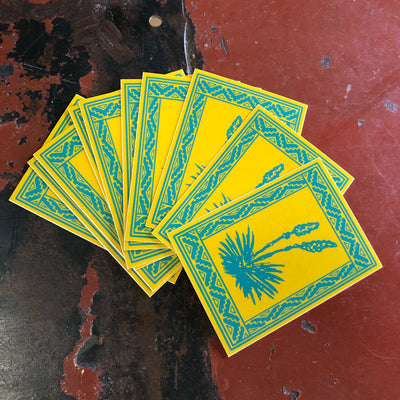 YUCCA rectangle sticker
