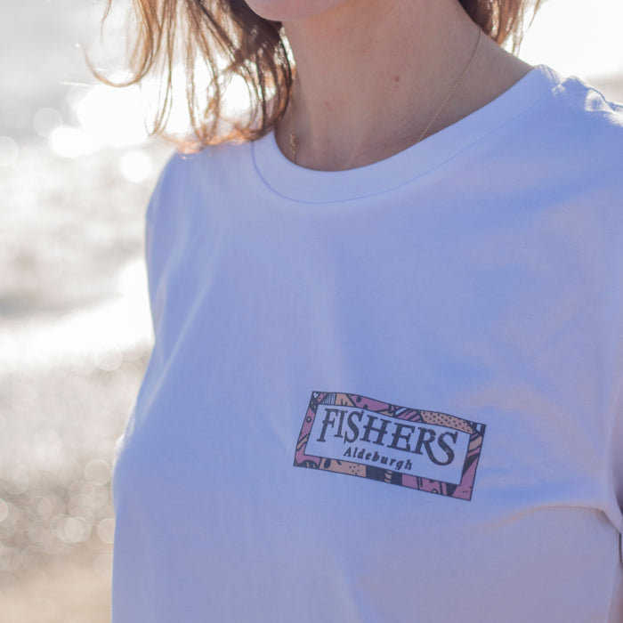 Fishers X Kachina 'Spray Paint' T-Shirt in White