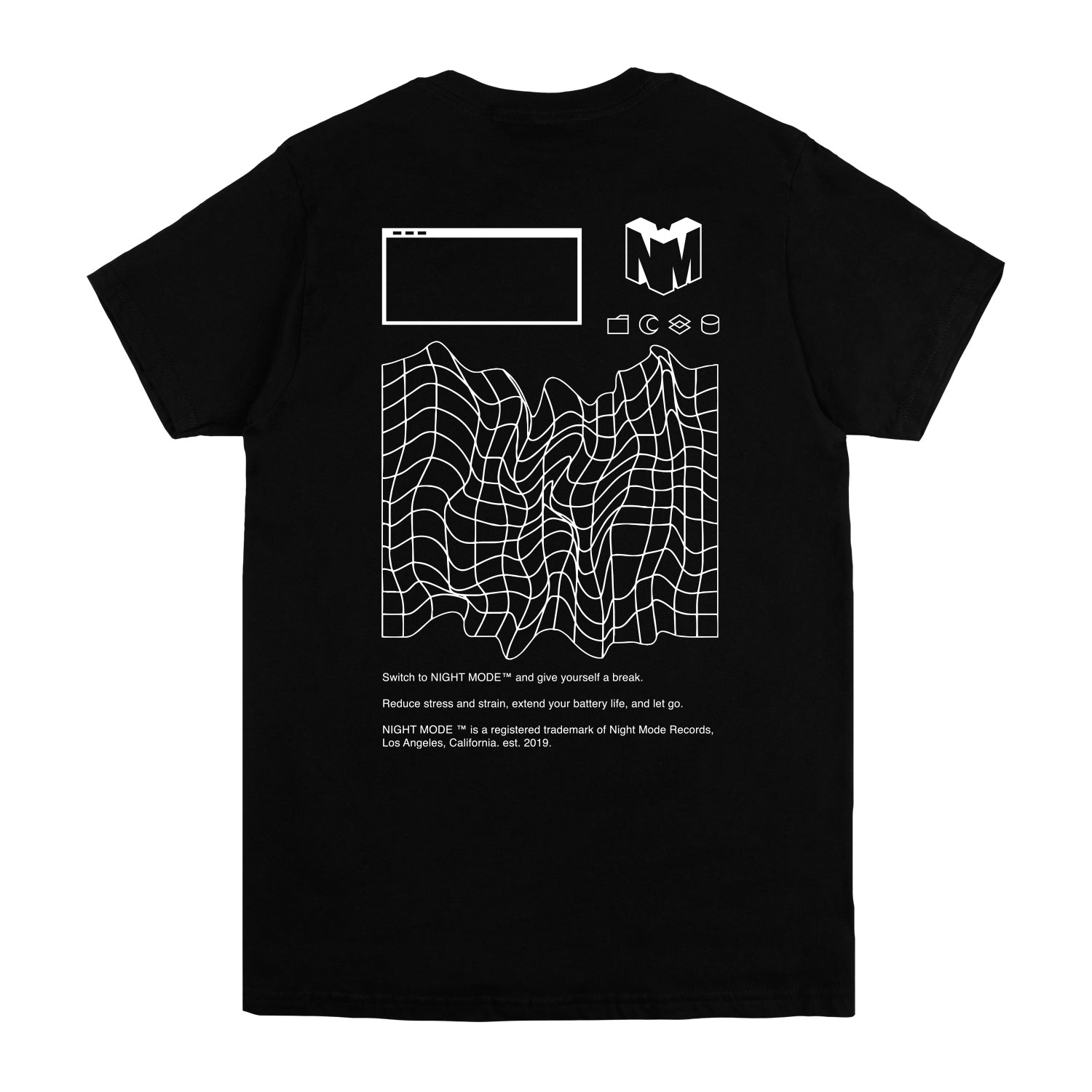 NIGHT MODE BLACK LOGO TEE