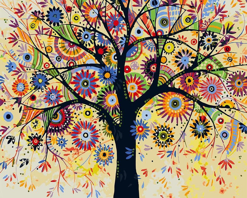Tree Paint By Numbers Kits UK For Adult HQD1205