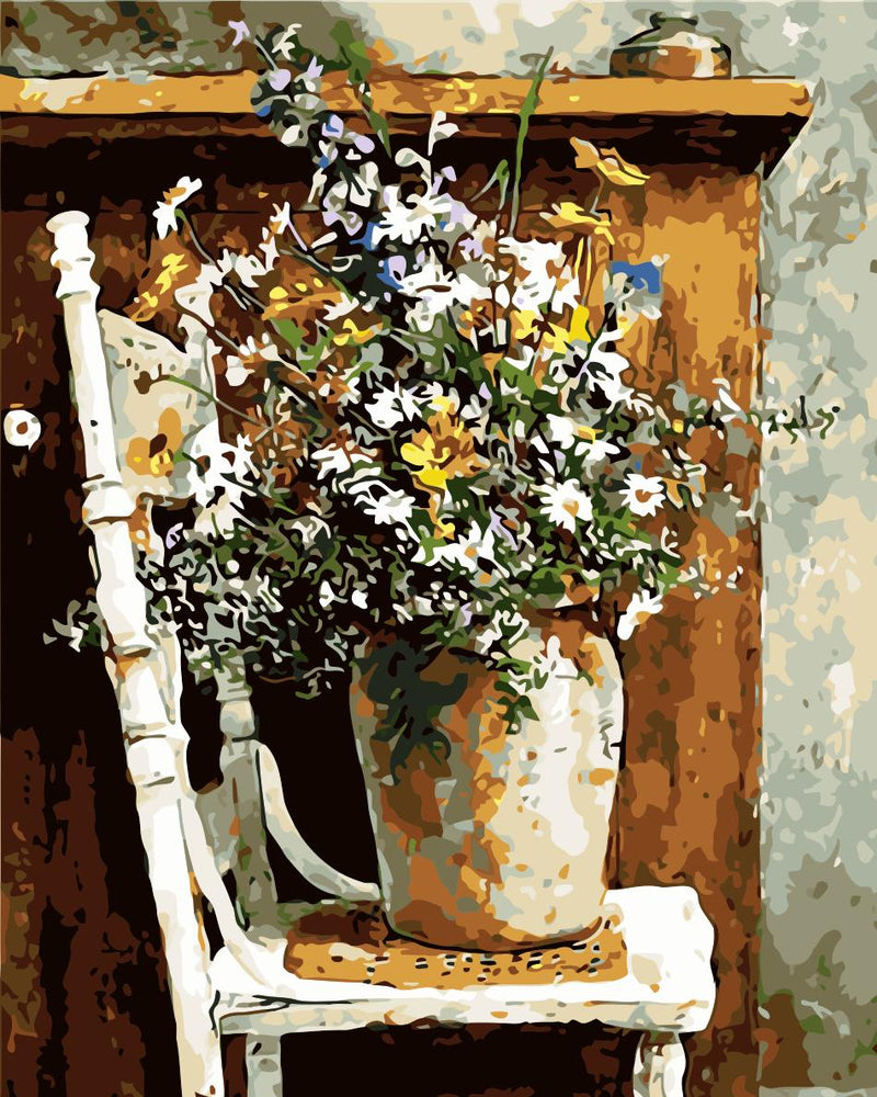 Flower Paint By Numbers Kits UK For Adult HQD1208