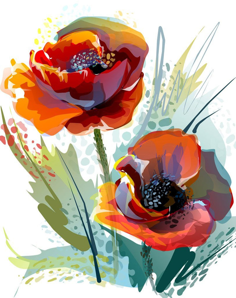 Flower Paint By Numbers Kits UK For Adult HQD1210
