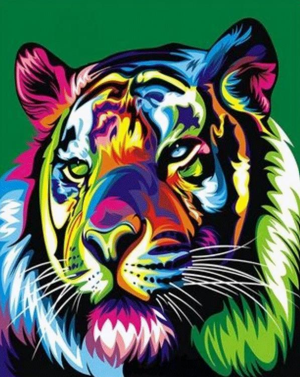 Animal Tiger Paint By Numbers Kits UK For Adult HQD1233