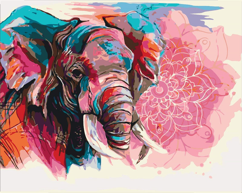 Animal Elephant Paint By Numbers Kits UK For Adult HQD1278