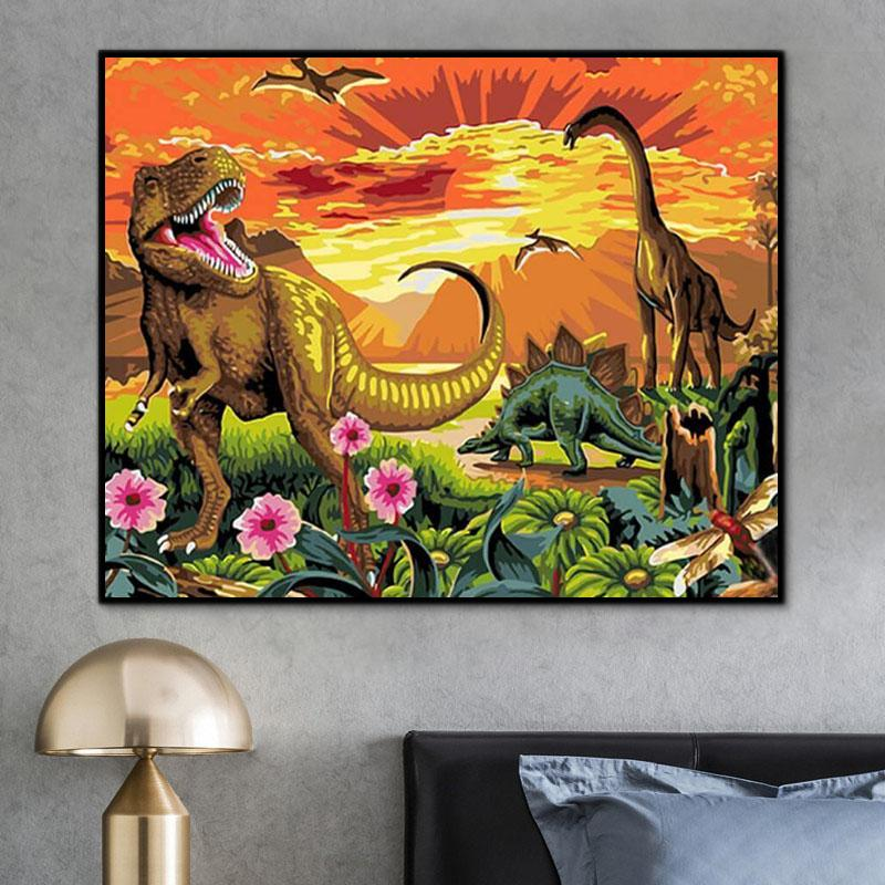 Animal Dinosaur Paint By Numbers Kits For Adult PH9295
