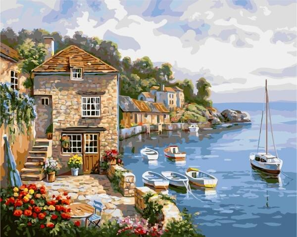 Landscape Paint By Numbers Kits UK For Adult PH9312