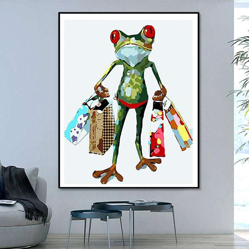 Animal Frog Paint By Numbers Kits For Adult PH9319