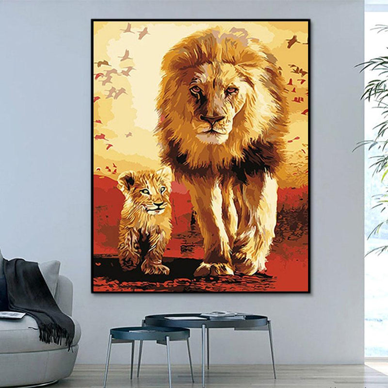 Animal Lion Paint By Numbers Kits For Adult PH9359