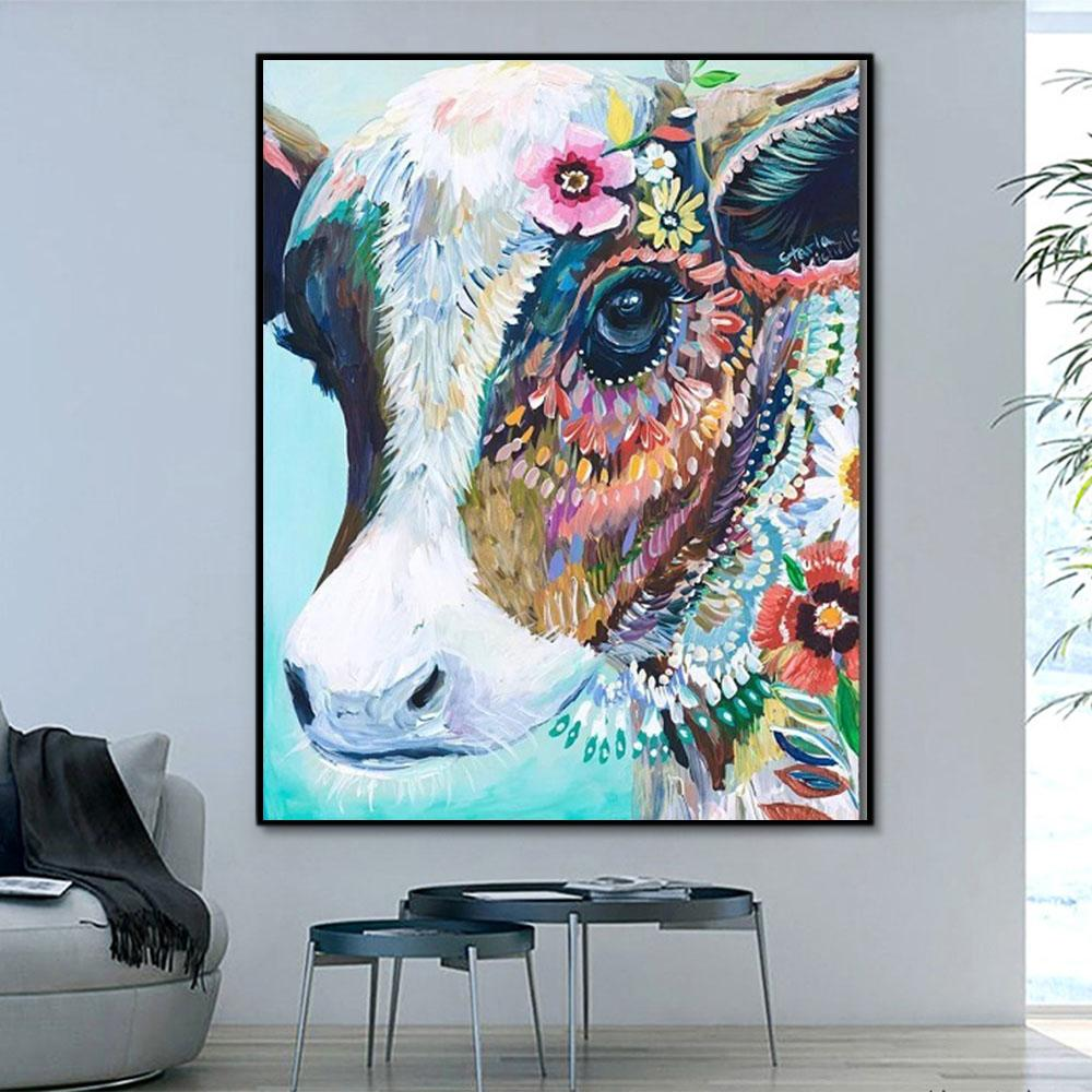 Animal Cow Paint By Numbers Kits For Adult PH9480