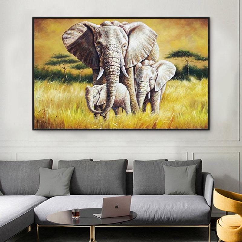 Animal Elephant Paint By Numbers Kits For Adult PH9493