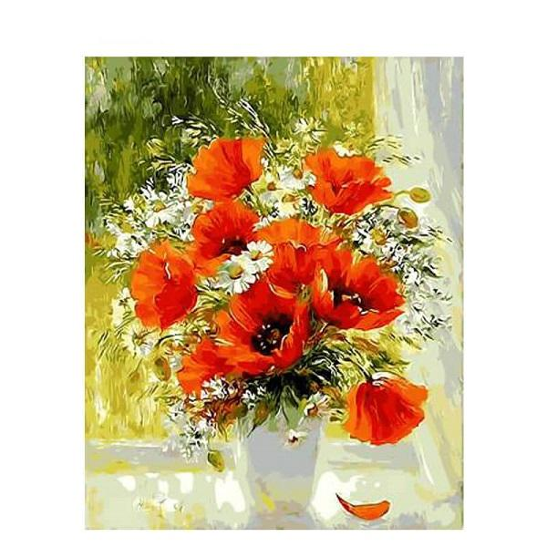 Flower Paint By Numbers Kits UK For Adult PH9494