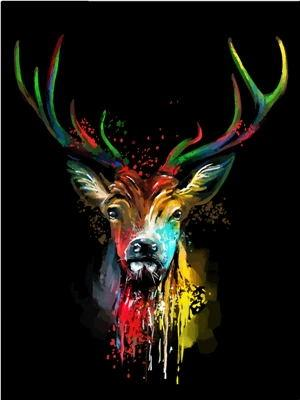 Animal Deer Paint By Numbers Kits UK For Adult PH9593