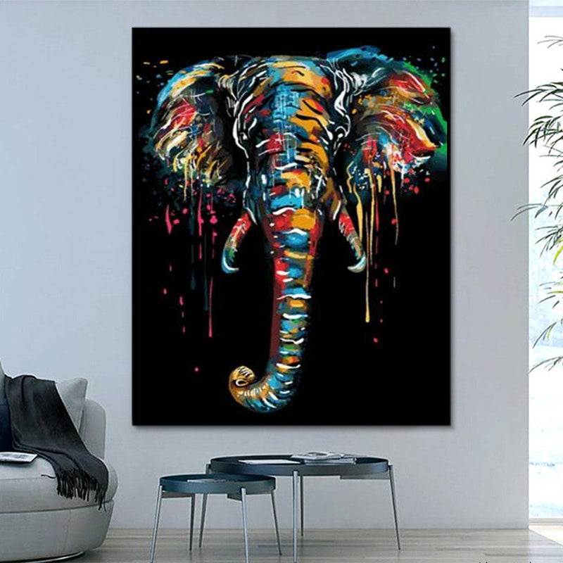 Animal Elephant Paint By Numbers Kits For Adult PH9596