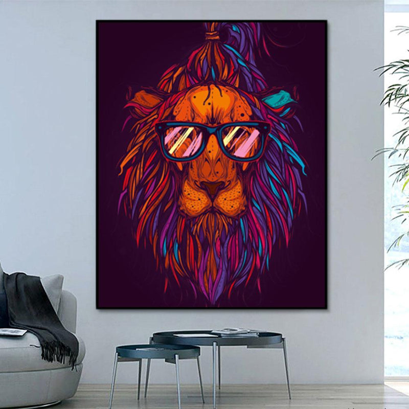 Animal Lion Paint By Numbers Kits For Adult PH9613