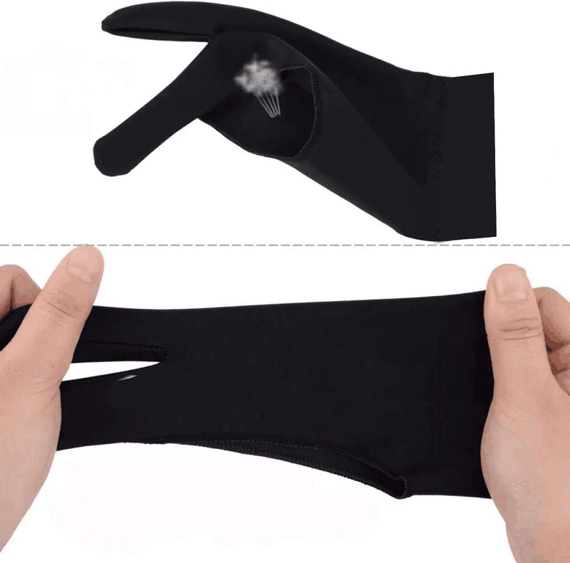2-Finger Artist Glove for Graphics Drawing Tablet T1301
