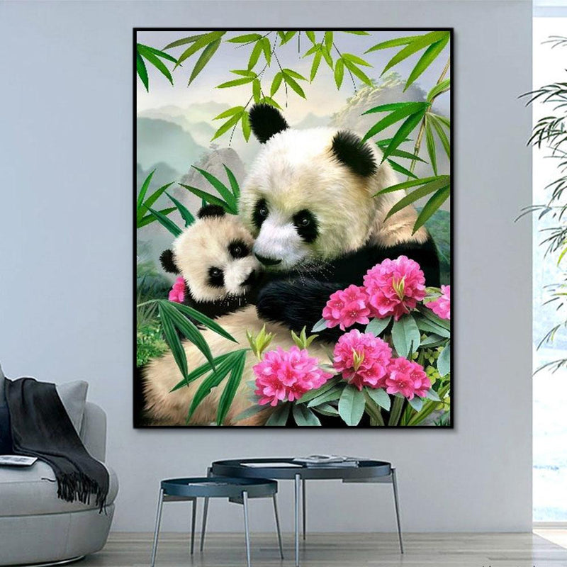 Animal Panda Paint By Numbers Kits For Adult RA3123