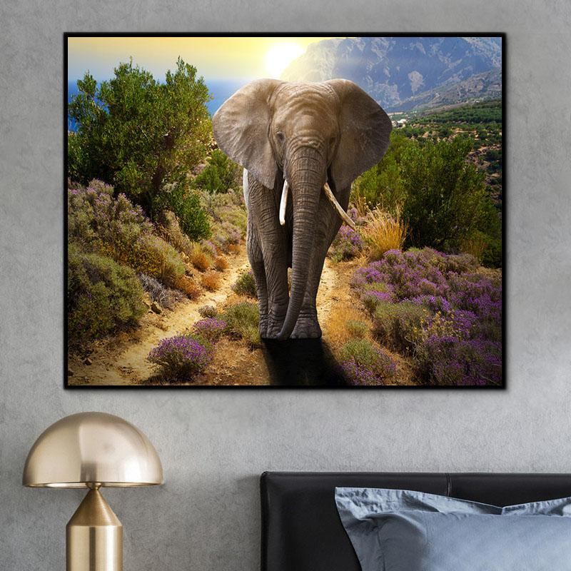 Animal Elephant Paint By Numbers Kits For Adult RA3205
