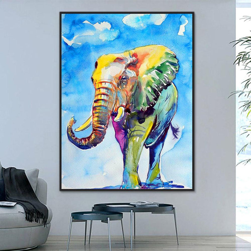 Animal Elephant Paint By Numbers Kits For Adult RA3254