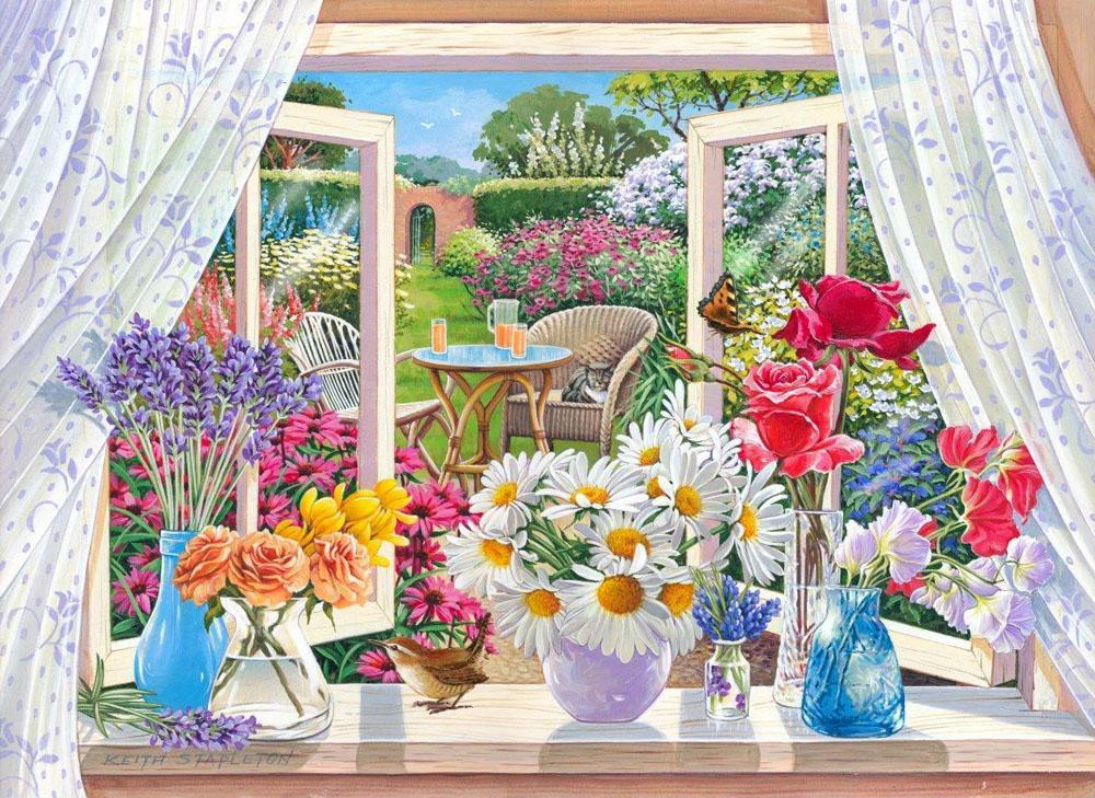 Flower Paint By Numbers Kits UK For Adult RA3340