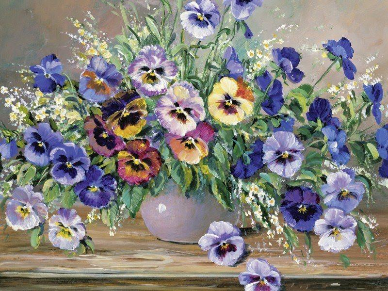 Flower Paint By Numbers Kits UK For Adult RA3374