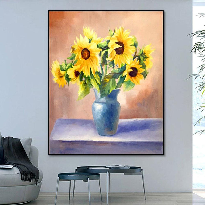 Flower Sunflower Paint By Numbers Kits For Adult RA3469