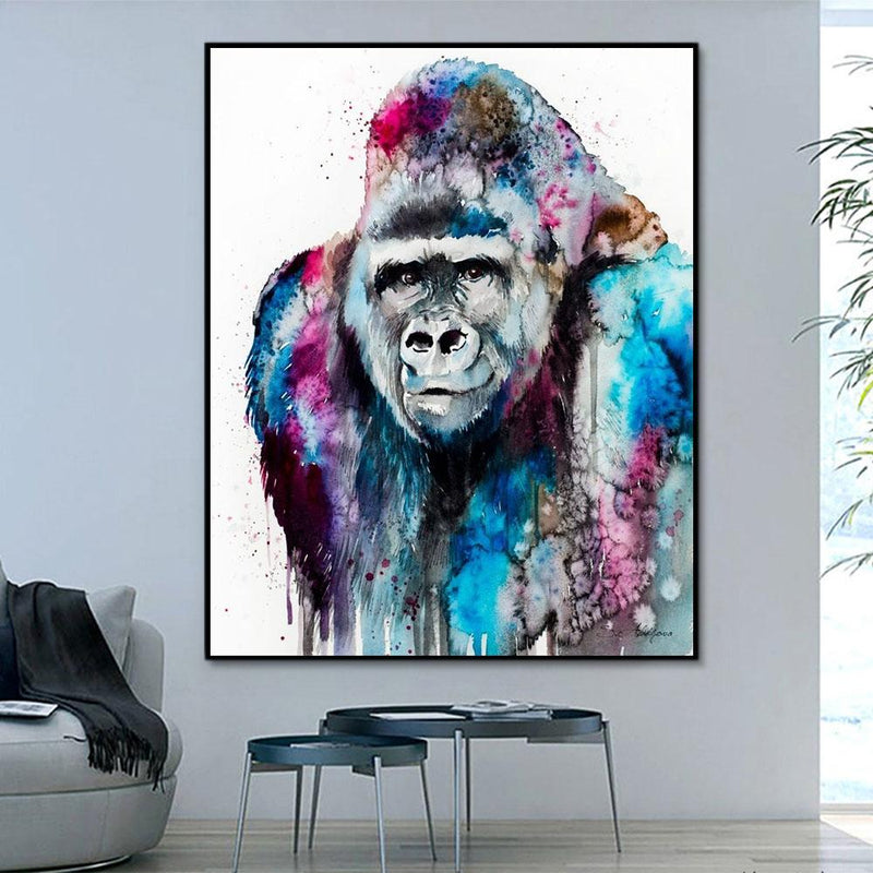 Animal Gorilla Paint By Numbers Kits For Adult RSB8484