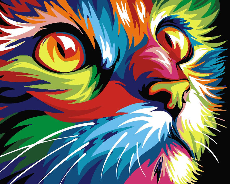 Cat Paint By Numbers Kits UK For Adult HQD1351