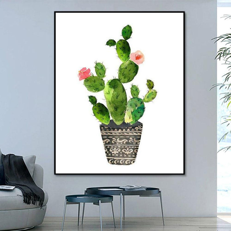 Flower Cactus Paint By Numbers Kits For Adult HQD1214