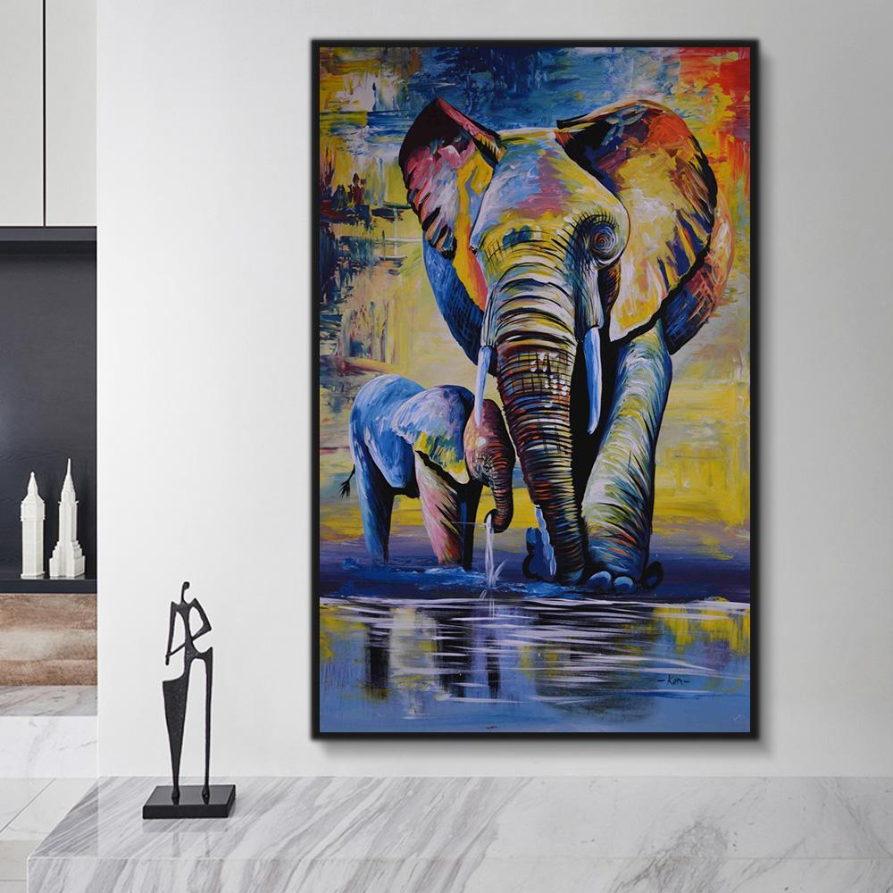 Animal Elephant Paint By Numbers Kits For Adult HQD1273