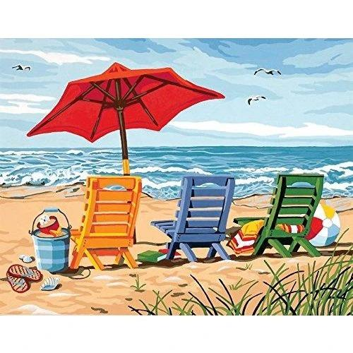 Landscape Paint By Numbers Kits UK For Adult WH2017