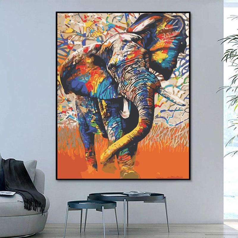 Animal Elephant Paint By Numbers Kits For Adult HQD1255