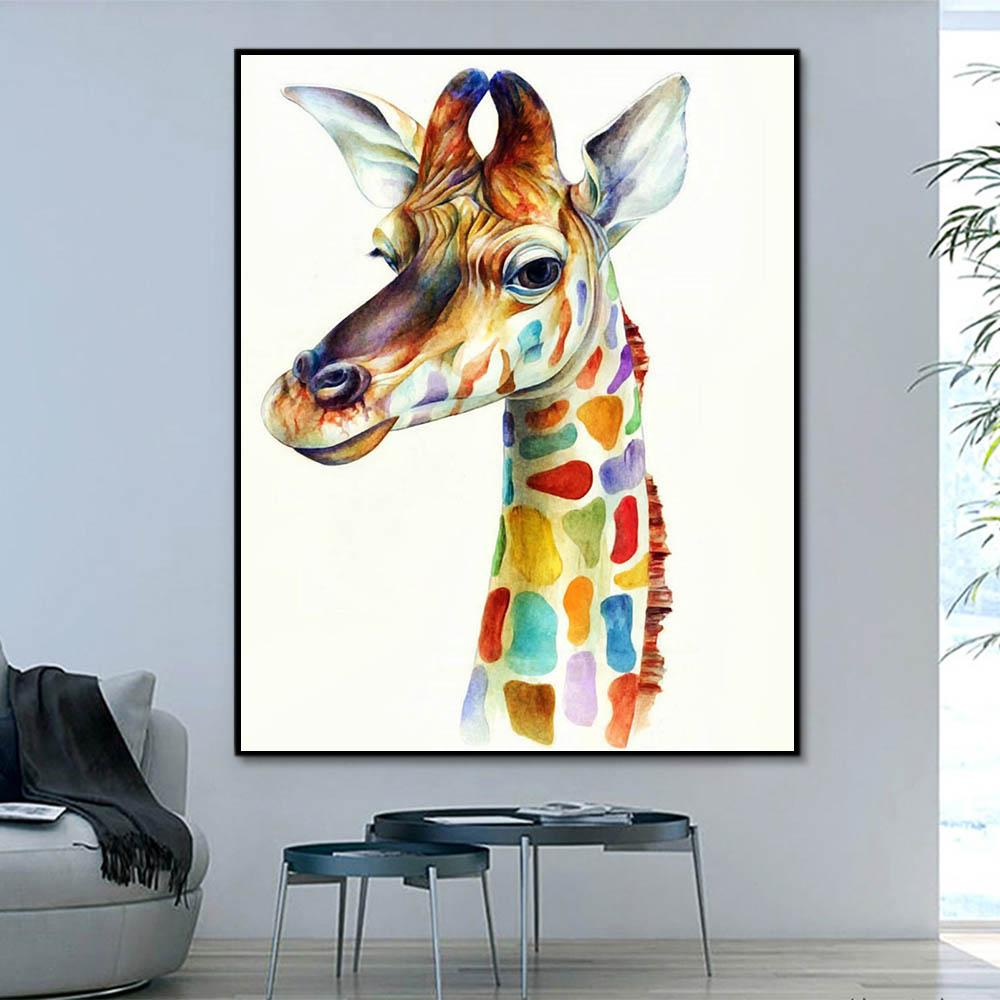 Animal Giraffe Paint By Numbers Kits For Adult HQD1244