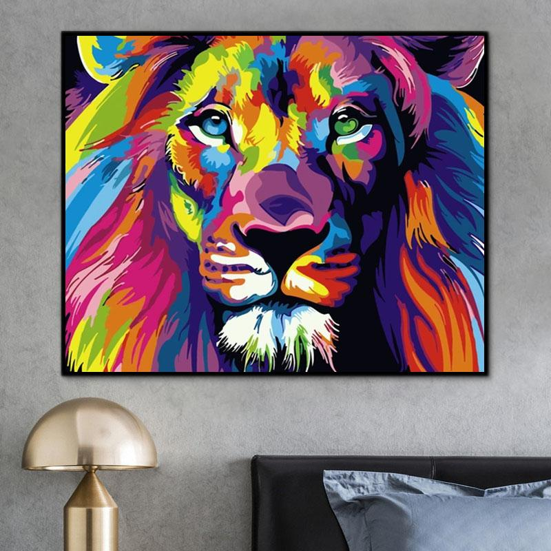 Lion Paint By Numbers Kits For Adult HQD1348