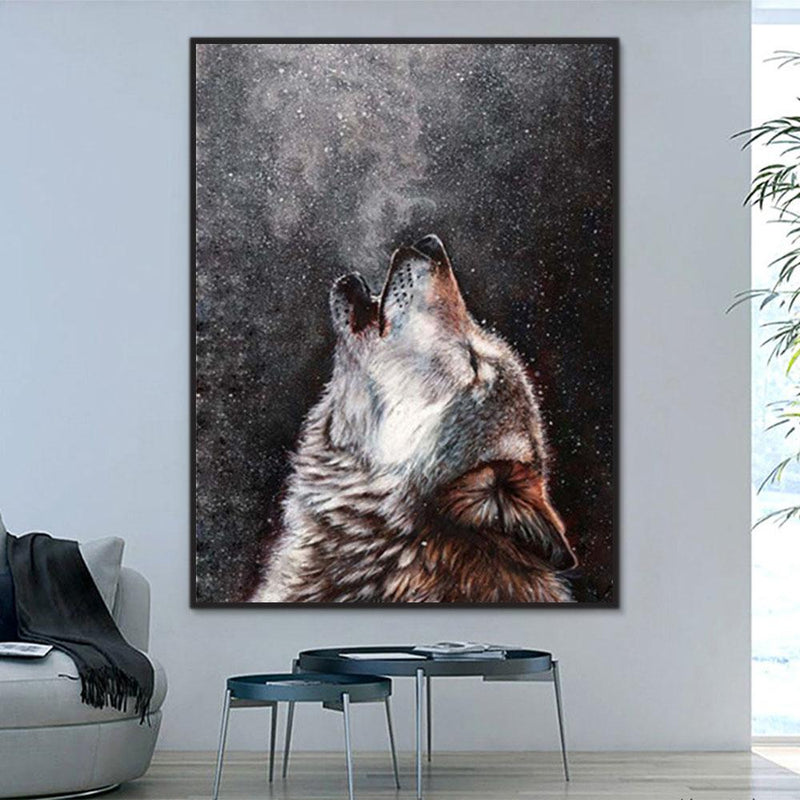 Animal Wolf Paint By Numbers Kits For Adult Y5581