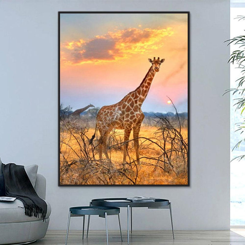 Animal Giraffe Paint By Numbers Kits For Adult Y5610