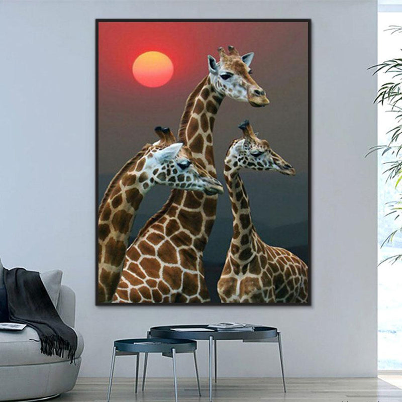 Animal Giraffe Paint By Numbers Kits For Adult Y5700