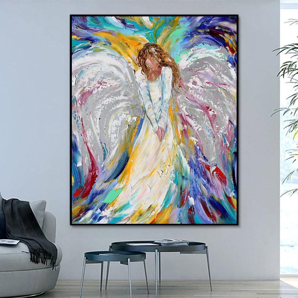 Portrait Angel Paint By Numbers Kits For Adult HQD1313