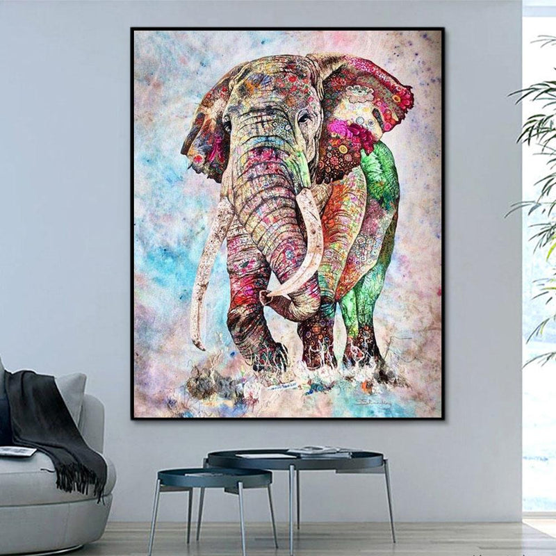 Animal Elephant Paint By Numbers Kits For Adult HQD1234