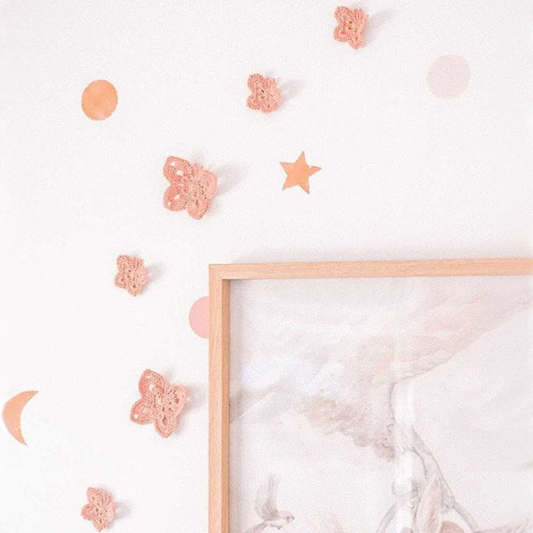 Butterfly wall decals - Dusty rose | Set of 6