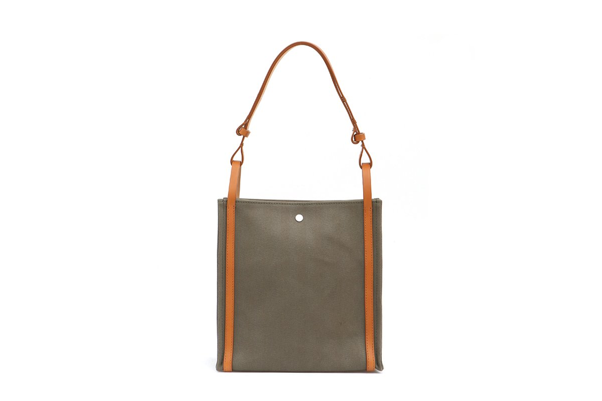 Second Khaki Canvas Bag - EXCLUSIVE - gu_de