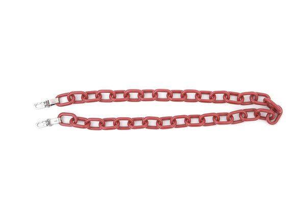 Rose Candy Chain Strap with Silver Tone Metal - gu_de